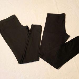 2 pair black leggings